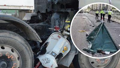 電單車與田螺車相撞鐵騎士身亡 葵涌道往荃灣非常擠塞
