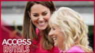 Kate Middleton Meets First Lady Dr. Jill Biden For First Time At School Visit