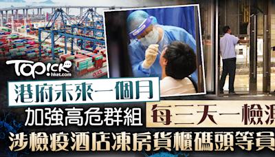 【加強檢測】政府未來一個月加密高危群組至三天一檢 涉檢疫酒店凍房等員工 - 香港經濟日報 - TOPick - 新聞 - 社會