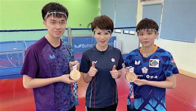 奧運桌球鄭林配宜蘭合體 林昀儒首談個人賽銅牌戰惜敗心聲