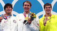 Medallists allowed maskless photo-op on podium