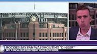 Rockies say fan was shouting 'Dinger' instead of racial slur