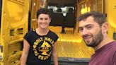 Couple turn battered DHL van into mini home for just £2k & it's now worth £15k