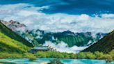 四川阿壩州黃龍彩池 世界奇觀