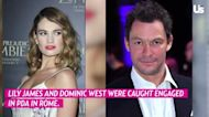 Lily James Plays Coy About Chris Evans Romance Rumors — Again