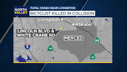 Bicyclist killed after being hit by truck in Merced County
