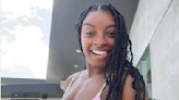 Simone Biles Rocks A Tie-Dye Bikini And Reveals Her Washboard Abs Post-Olympics
