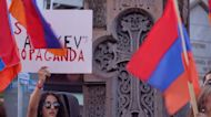 Armenian diaspora in Greece hold anti-Azerbaijan protest