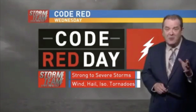 Veteran meteorologist 'let go' from job after objecting to station's 'Code Red' weather alerts