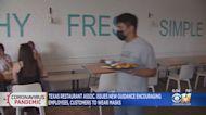 Texas Restaurant Assoc. Issues New Guidance On Masks
