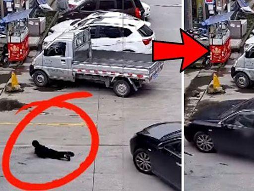 浙江6歲仔趴馬路扭計 遭私家車司機誤以為膠袋輾過 | 蘋果日報