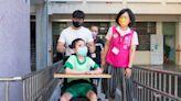 文林國小增設無障礙電梯 身障生直呼感覺很新鮮