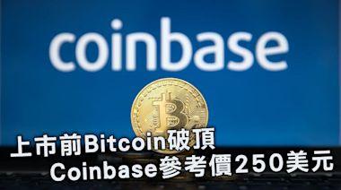 Coinbase上市高開四成 Bitcoin破頂 向6.5萬美元進發 | 蘋果日報