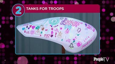 Pink and Carey Hart Auction Motorcycle Tanks for Veterans — Including One Designed Their Daughter