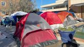 Howard University students protest housing conditions with on-campus tent city