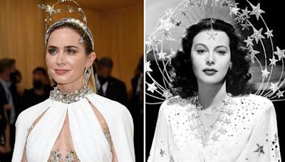 Emily Blunt's Makeup Artist Breaks Down the Products She Used for Her Hedy Lammar-Inspired Met Gala Look