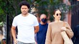 Trevor Noah and Minka Kelly Take Her Dog Fred for a Walk in N.Y.C. Months After Their Breakup