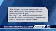 Target 7 fact checks claim made by Gonzales campaign