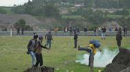Choques entre indígenas y policías en Ecuador