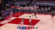 Norman Powell with an assist vs the Detroit Pistons
