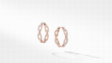'Round the Rosy Gold: Cure those Monday blues with rose-toned hoop earrings