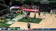 Giannis Antetokounmpo with an alley oop vs the Memphis Grizzlies