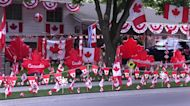 Oh Canada! Ontario house completely covered in country's flags and colors in celebration of Canada Day