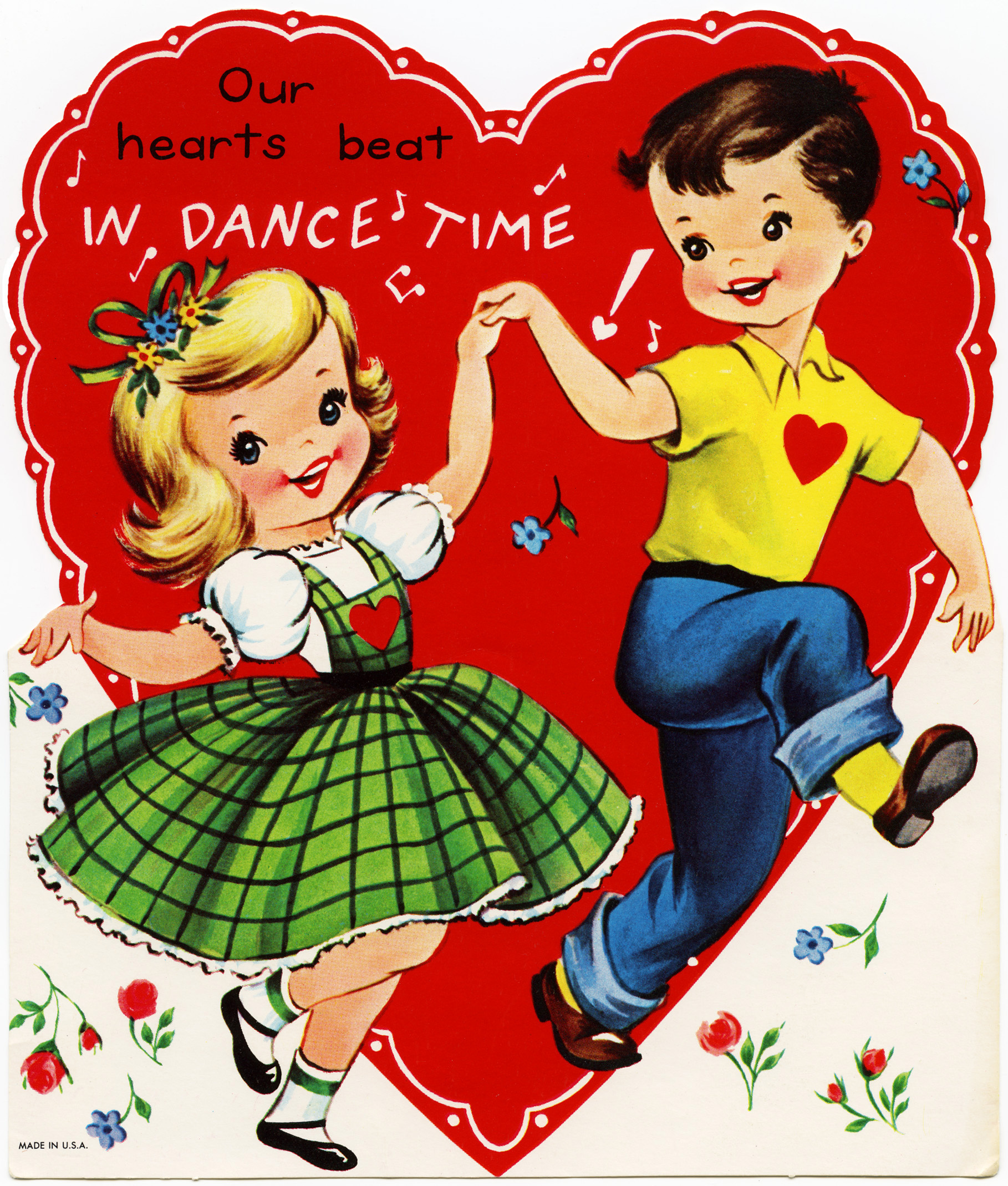 dance valentine, retro children valentine, dance time valentine ...