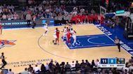 Bradley Beal with a 2-pointer vs the New York Knicks