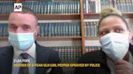 Mom of pepper-sprayed child speaks against police