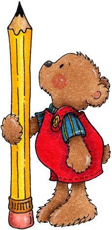 clipart decpoupage Teddy Bear Pencil | ♥School Clipart ...