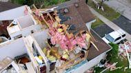 Drone video shows Illinois tornado destruction