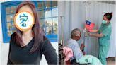 暖!正妹護理師巧手製國旗 用點滴架幫退休老師辦升旗典禮