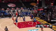 Giannis Antetokounmpo with a dunk vs the Atlanta Hawks
