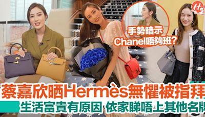 蔡嘉欣晒Hermès袋無懼被指拜金!IG日常孭名牌遭批炫富!依家睇唔上Chanel? | HolidaySmart 假期日常