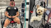 Orlando Bloom Pumps Iron During Workout With Dog Buddy: 'Early Bird Gets The Gains' | Access