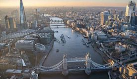 A year over London: Stunning aerial images capture the city's famous landmarks and ever-changing skyline