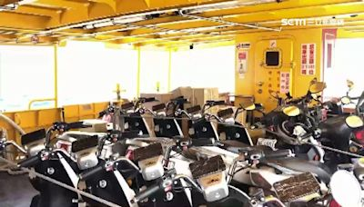 備戰中秋假期!百輛電動車搭船「直送小琉球」 迎連假人潮