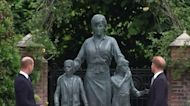 Prince William and Prince Harry unveil Princess Diana statue