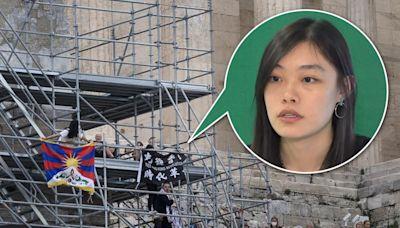 雅典抗議北京冬奧被捕 邵嵐獲釋返美 三抗議者仍被扣留