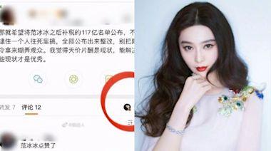 公開中國娛樂圈700人補稅500億名單 范冰冰微博點讚