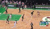 Julius Randle with a buzzer beater vs the Boston Celtics