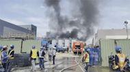台積電南科再生水廠大火 2名工人一度受困救出