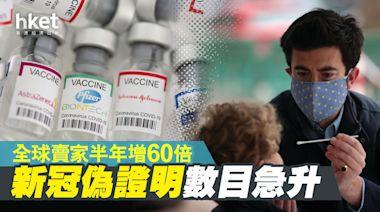 新冠偽證明數目急升 全球賣家半年增60倍 - 香港經濟日報 - 即時新聞頻道 - 國際形勢 - 環球社會熱點