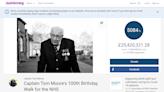 【百萬民眾解囊】99歲二戰老兵繞庭院百趟募款 替英國醫護籌得9.5億資金