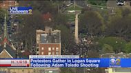 Protesters Gather In Logan Square Following Shooting Of Adam Toledo