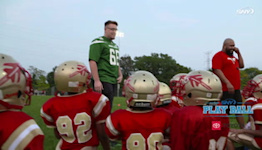 SNY Play Ball presented by Toyota hosts youth football clinic