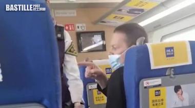 列車上不戴口罩鄰座阿姨提醒 外籍旅客:閉嘴! | 兩岸