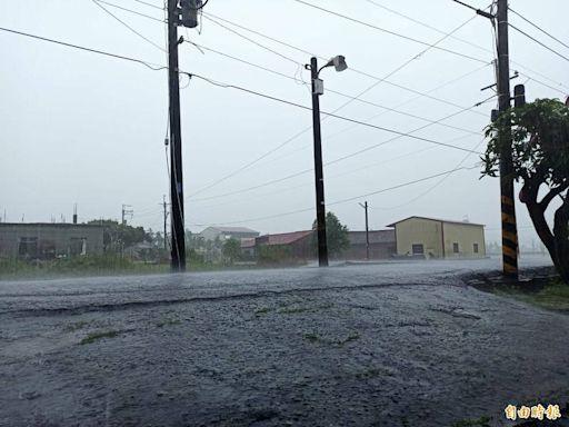 受西南氣風影響 高雄6區大雨等級 3區達淹水警戒