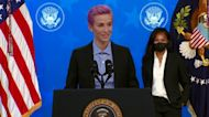Biden, Rapinoe push for gender pay equity